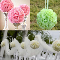 6 Inch Elegant Artificial Silk Rose Flower Ball Hanging Kissing Balls Ornament For Wedding Party Festivals Decorations