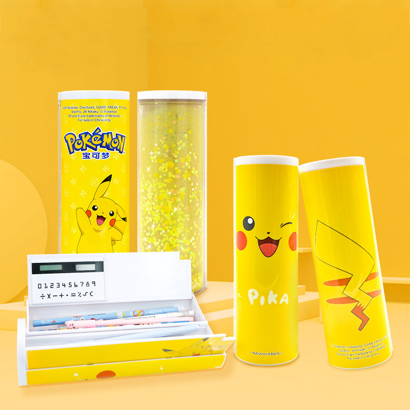 NBX newmebox Pikachu Pencil cases stationery for school quicksand pencil case fashion school supplies Boys and girls Student use
