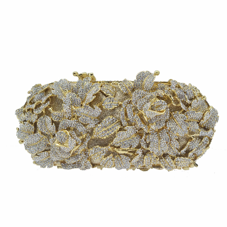 Mode luxe sacs de soirée en métal femmes strass pochette sacs à bandoulière Banquet fête pochette dames mariage mariée embrayages