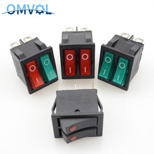 Electrical-Equipment Rocker-Switch KCD4 with Light ON-OFF 2-Position-6-Pins Two-Way