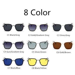 Image 5 - AIMISUV Vintage Square Sunglasses Men Polarized  Fashion Metal Punk Glassses Kabir Singh Sun Glasses male UV400