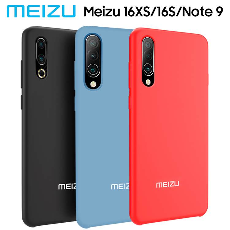 Meizu Case Soft Protective Shockproof Liquid-Silicon NOTE9 16XS Original Back-Cover