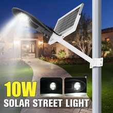 10W Solar Street lighting Sensor LED Street Lamp With Pole Waterproof for Outdoor Road Lighting 6500K(China)