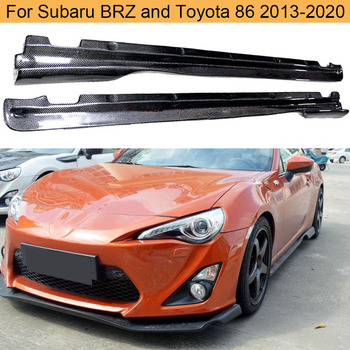 Carbon Fiber Side Skirts Bodykit For Subaru BRZ Toyota FT86 GT86 2013-2020 Car Body Kits Side Skirts Apron Lip Trim Cover image