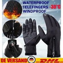 Зимние перчатки для женщин и мужчин, теплые, ветрозащитные, с сенсорным экраном, водонепроницаемые, для зимы, на открытом воздухе, для кемпинга, походов, охоты