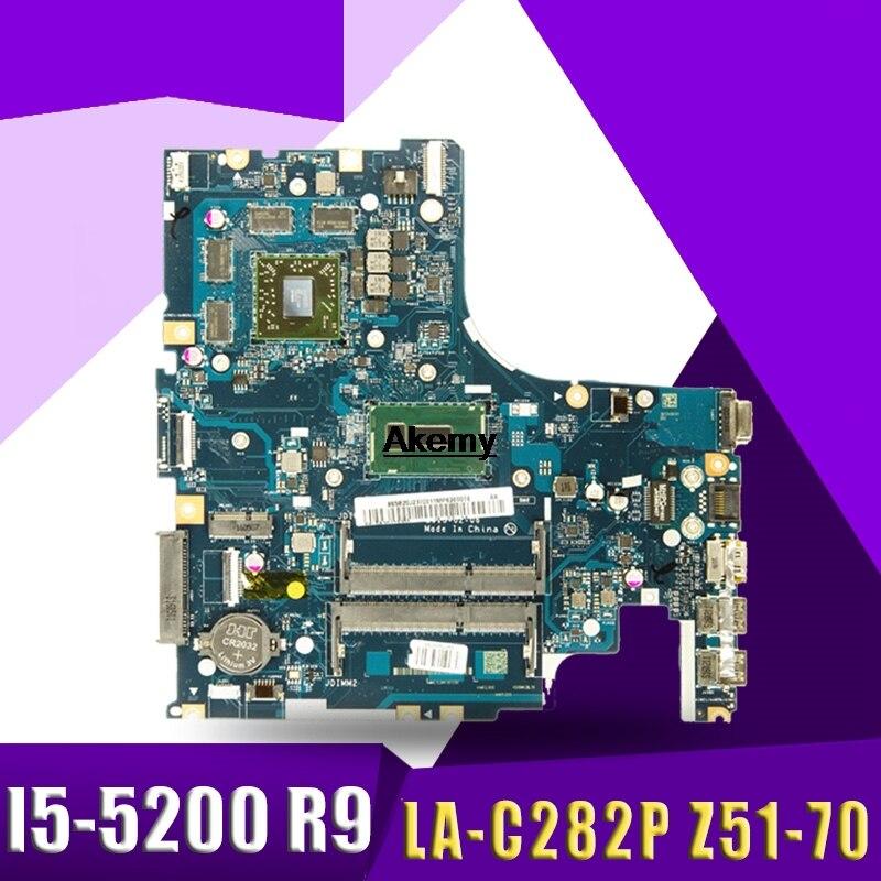 AIWZ0/Z1 LA-C282P Motherboard For Lenovo Z51-70 Y50C XIAOXIN V4000 Notebook Motherboard CPU I5-5200U R9 M375 100% Test Work