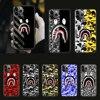 Moda sport marka Bape telefon skrzynki pokrywa dla iphone 5 5S 6 6S PLUS 7 8 12 mini X XR XS 11 PRO SE 2020 MAX czarny zderzak miękki