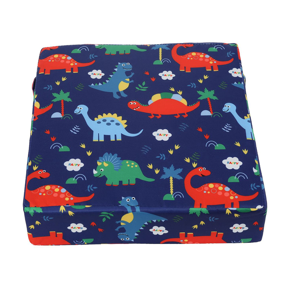 Square Chair Pad Non Slip Washable Thick Kid Cartoon Dismountable Mat Soft Portable Dining Heightening Baby Booster Cushion