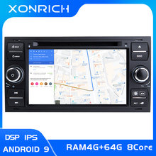 4 go IPS DSP 2 din Android 9 autoradio multimédia pour Ford Focus 2 3 mk2 Mondeo 4 Kuga Fiesta Transit Connect S-MAXC-MAX8 Core64G(China)