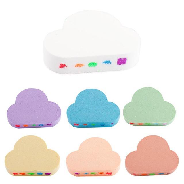 100g Rainbow Cloud Natural Bath Salt Exfoliating Moisturizing Bubble Bomb Ball Essential Oil Bubble Shower Natural Skin Care 2