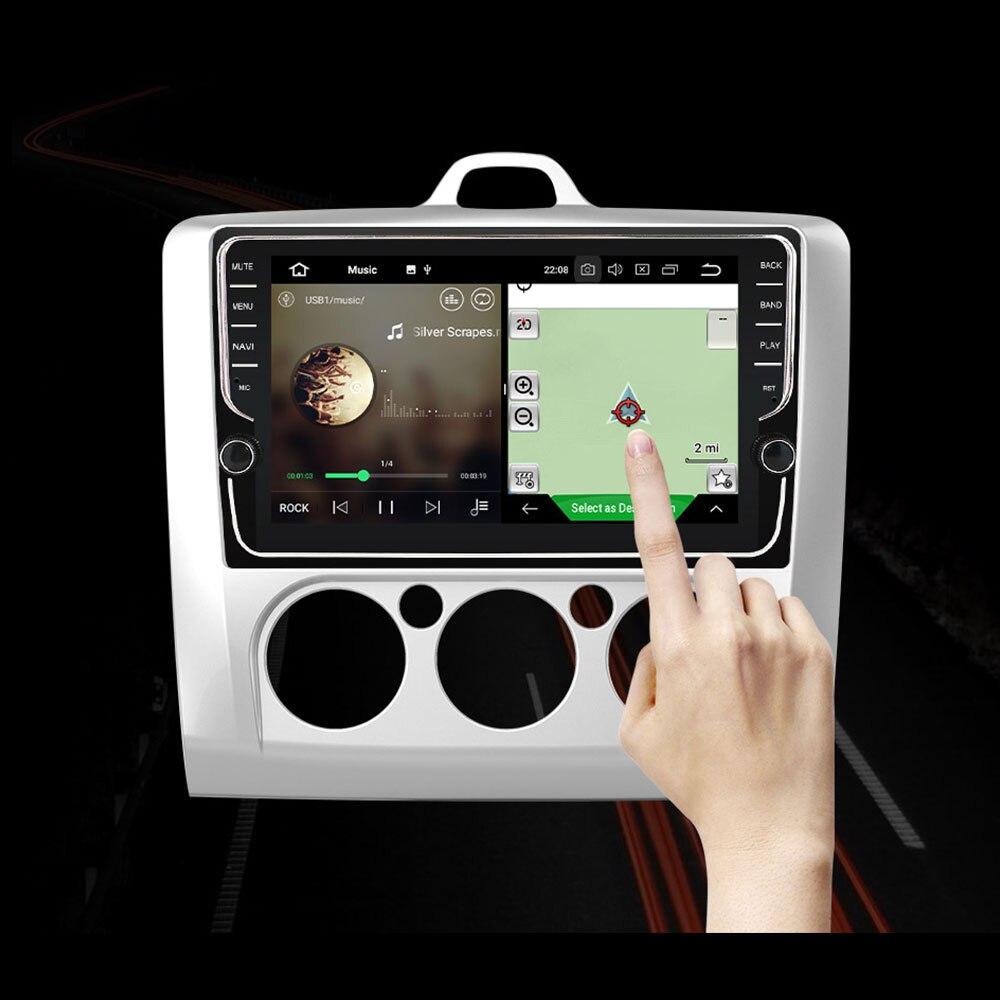 Eunavi 2 din 9 дюймов Android 9 автомобильный Радио мультимедийный плеер gps навигация для Ford focus 2 2004-2011 2din стерео головное устройство ips BT