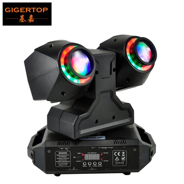 TIPTOP 2 X 30W New Club Beam Led Moving Head Light DMX512 Control Dual 30W LED Tyanshine with Halo RGB 3IN1 Hanging Clamp Hole