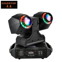 Светодиодная Подвижная головка TIPTOP 2X30 Вт, светодиодная Подвижная головка DMX512, двойная светодиодная лампа 30 Вт Tyanshine с ореолом RGB, 3 в 1, фонарь с отверстием