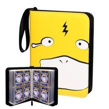Pokemon kartı kitap taşınabilir saklama kutusu çıkarılabilir levhalar kadar 200 kartları-oyuncaklar hediyeler için 3-8 yaşındaki kızlar