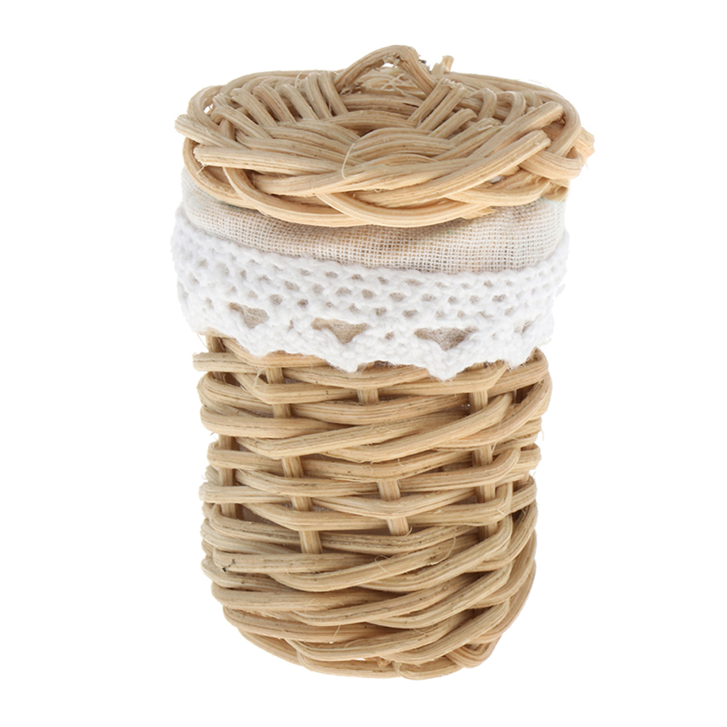 1/12 Dollhouse Miniature Handmade Bamboo Basket Doll House Decor Ornaments Rooms Items Accessories Decor