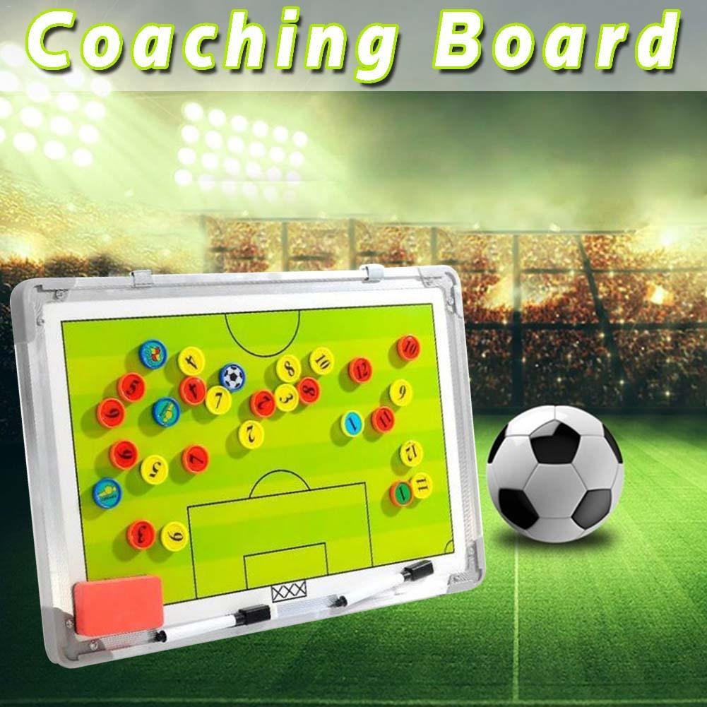 Football Tactic Coaching Board Trainning Assisitant Equipments Football Soccer Tactical Teaching Board With 28PCS Magnets