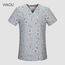 Хлопковая медицинская одежда Топ Брюки хирургические ткани медицинские скрабы Стоматологическая униформа для ухода за ребенком хирургические рубашки для женщин и мужчин