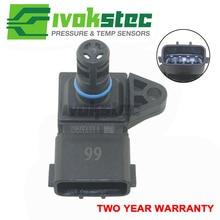 Sensor de admisión del colector 5WK96841 2045431, 4Bar (4 Bar), Sensor de Presión de Aire, para Renault, Peugeot 405, Kia, Pride, Hyundai, Citroen
