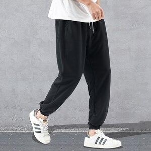 Image 3 - 2020 yeni bahar moda gevşek Sweatpants erkek spor erkek Jogger Harem pantolon