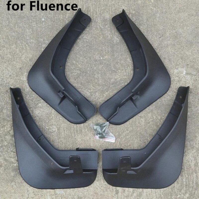 Auto Styling ABS kunststoff Schlamm Flattert Spritzen-schutz fender für 2011-2019 Renault Fluence 2,0 L Auto zubehör