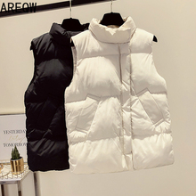 Beige Outwear Jacket Parkas Female Vest Zipper Black Women Autumn Casual Warm Top