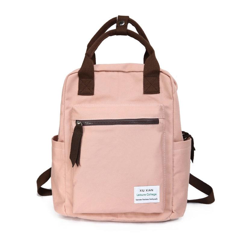 Harajuku Ulzzang Waterproof Nylon Women Backpack Korean Style School Bag For Teenage Girl Casual Female Travel Backpacks Mochila