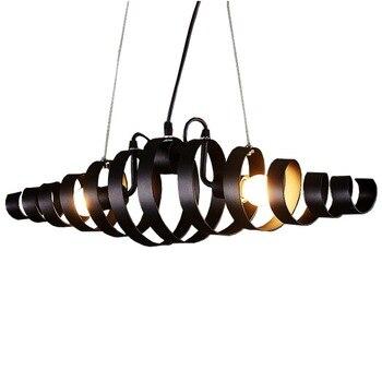 LukLoy LED amerykański wisiorek światła Retro wiszące lampy przemysłowe restauracja jadalnia Bar odzież dekoracyjne żelaza antyczne lampy