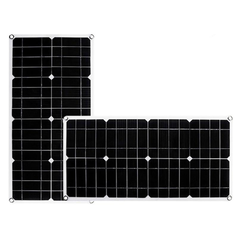50w dupla saída usb células solares monocristalino