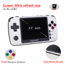 Video Game Console -New PocketGo Retro Game Console Game PS1 SNES Game Handheld IPS Screen