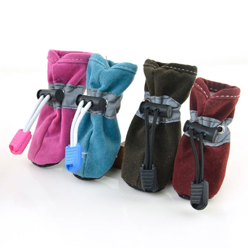 Waterproof Pet Dogs <font><b>Shoes</b></font> Winter Warm Soft Thick Breathable Dogs Boot <font><b>Shoes</b></font> For Chihuahua Puppies 7 Color image