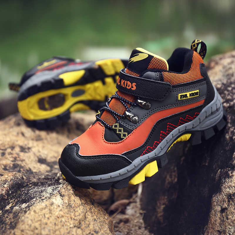 Çocuk açık spor yürüyüş botları gençler dağcılık trekking ayakkabıları İlkbahar/sonbahar yarım çizmeler çocuklar klasik spor ayakkabı