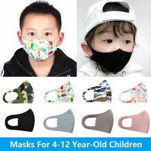 Для От 4 до 12 лет, детская маска для рта с мультяшным принтом, пылезащитные Детские маски для лица, Моющиеся Многоразовые студенческие Детски...