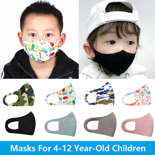 For 4-12 Years Old Kids Mouth Mask Cartoon Printed Dust Children Face Masks Washable Reusable Student Kids Mouth Child Face Mask