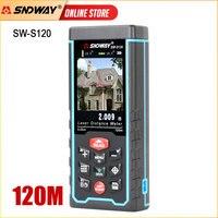 Medidor de distancia láser SNDWAY, cinta métrica Digital, función de cámara, herramienta de ángulo de cinta de Telémetro Láser, telémetro láser
