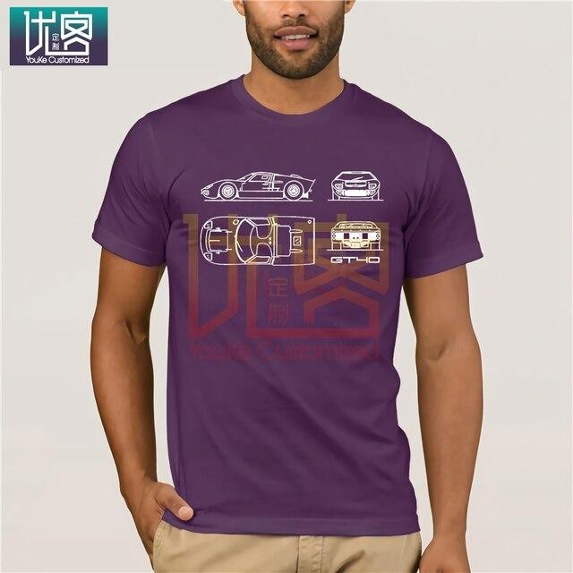 Le GT40 modèle voiture été décontracté t-shirts hommes Organnic 100% coton à manches courtes Ford T-Shirt créer adulte T-Shirt hauts drôle
