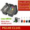 Популярный в Америке Pixma MG3610 mg3610 многоразовый картридж PG 140 CL 141 картридж для Canon Pixma MG2580 MG2400 2500