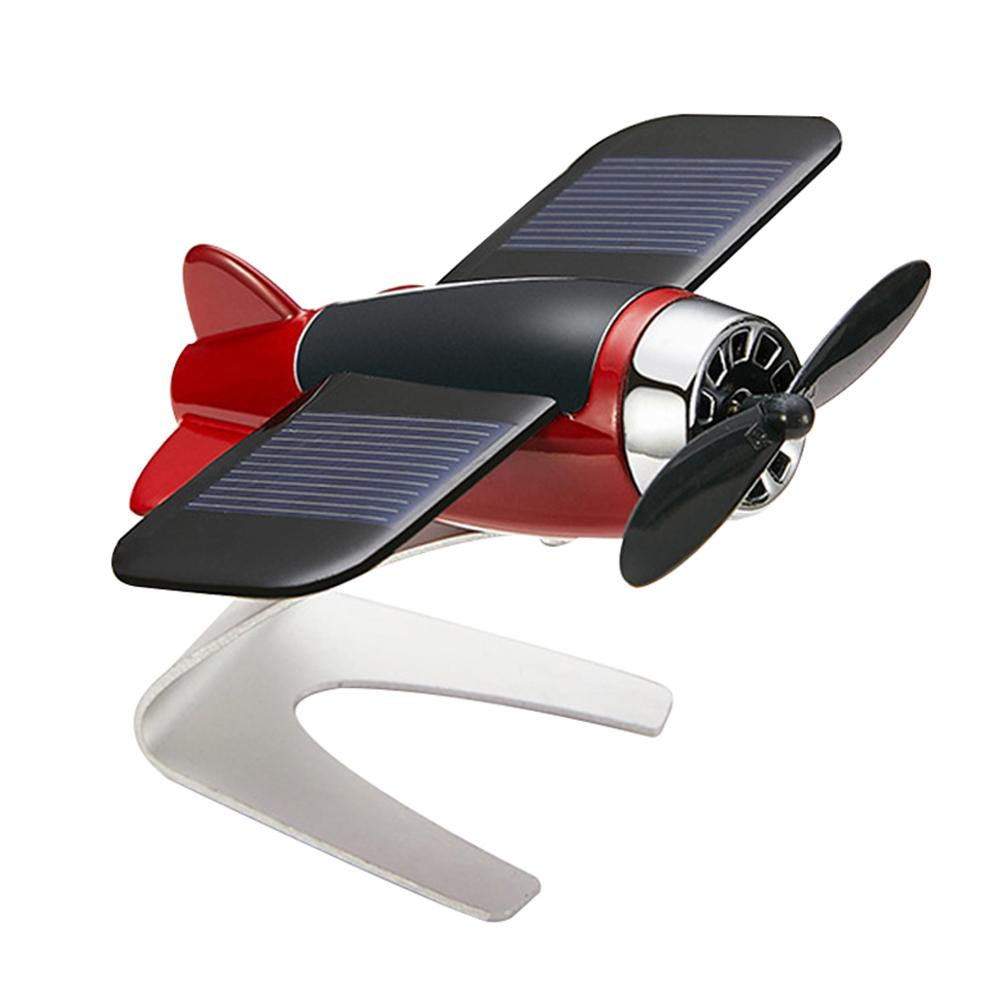Car Auto Styling Solar Energy Rotating Aircraft Airplane Dashboard Decoration Car Interior Accessories Boutique New Hot