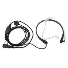Throat Microphone MIC PTT laryngofon Air Tube Headset Speaker for Baofeng Walkie Talkie CB Radio UV-5R UV B5 GT-3TP UV-5X