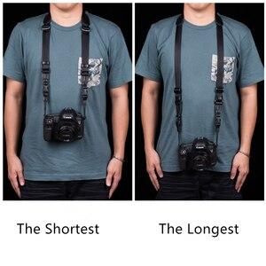 Image 5 - Vintage orijinal el yapımı hakiki deri basit kamera omuz askısı DSLR boyun bilek kayışı kemer için Canon/Nikon/Sony /panasonic