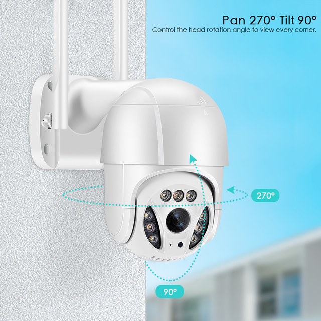 5MP Wifi IP-камера Наружная 3MP Ai Обнаружение человека Автоматическое слежение 2