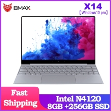 BMAX X14 Laptop 14.1 inch Intel Gemini Lake N4120 Intel UHD Graphics 600 8GB LPDDR4 RAM 256GB SSD ROM Notebook