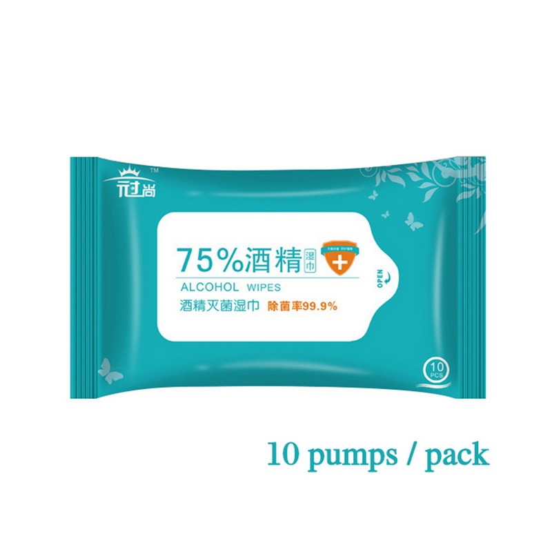 Fast Shipping Cheap Price 75% Medical Antibacterial Disinfectant Wet Hand Alcohol Wipes image
