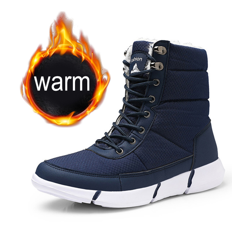 New Boots Men Winter Snow Boots Men Outdoor Activity Sneakers Boots Warm Lace Up High Top Fashion Shoes Men Boots