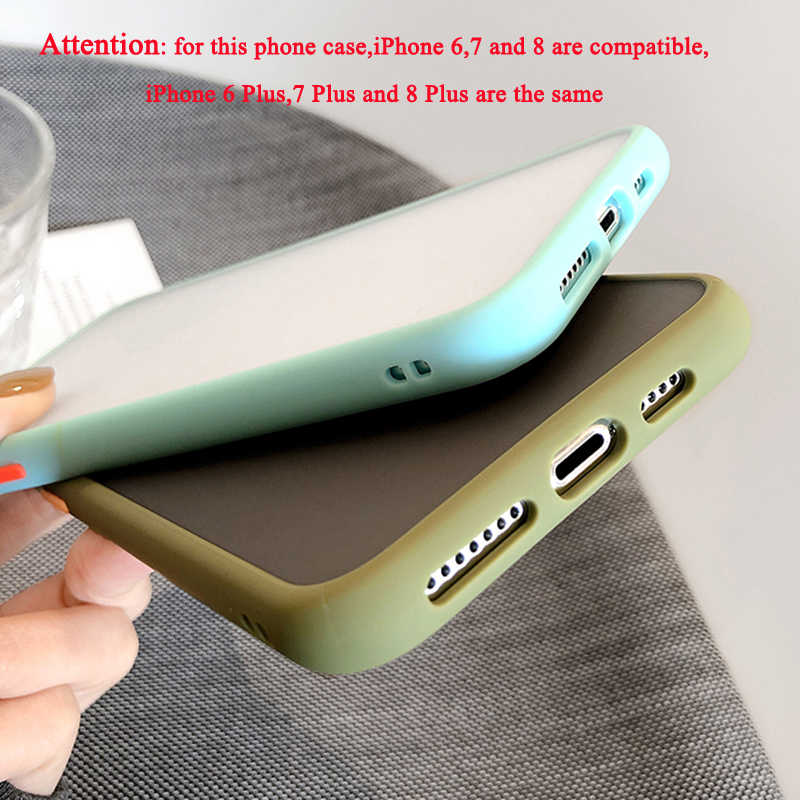SUYACSกรณีโทรศัพท์กันกระแทกสำหรับiPhone 11 Pro Max XR X XS Max 7 8 6 Plus Soft TPUขอบmatte Back PC Candyสีกลับ