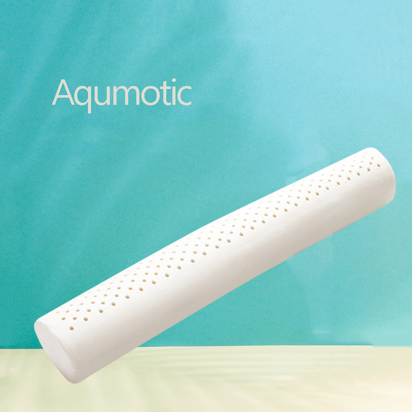 Aqumotic Latex Long Round Pillow With Pillowcase 60cm Repair Cervical Pillow Neck Nursing Comfortable Soft Home Bed Tool