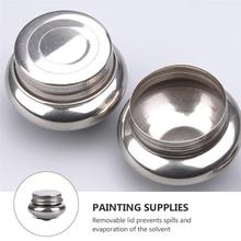 Stainless Steel Painting Brush Washing Pot Color Mixing Pen Washing Pot with Lid