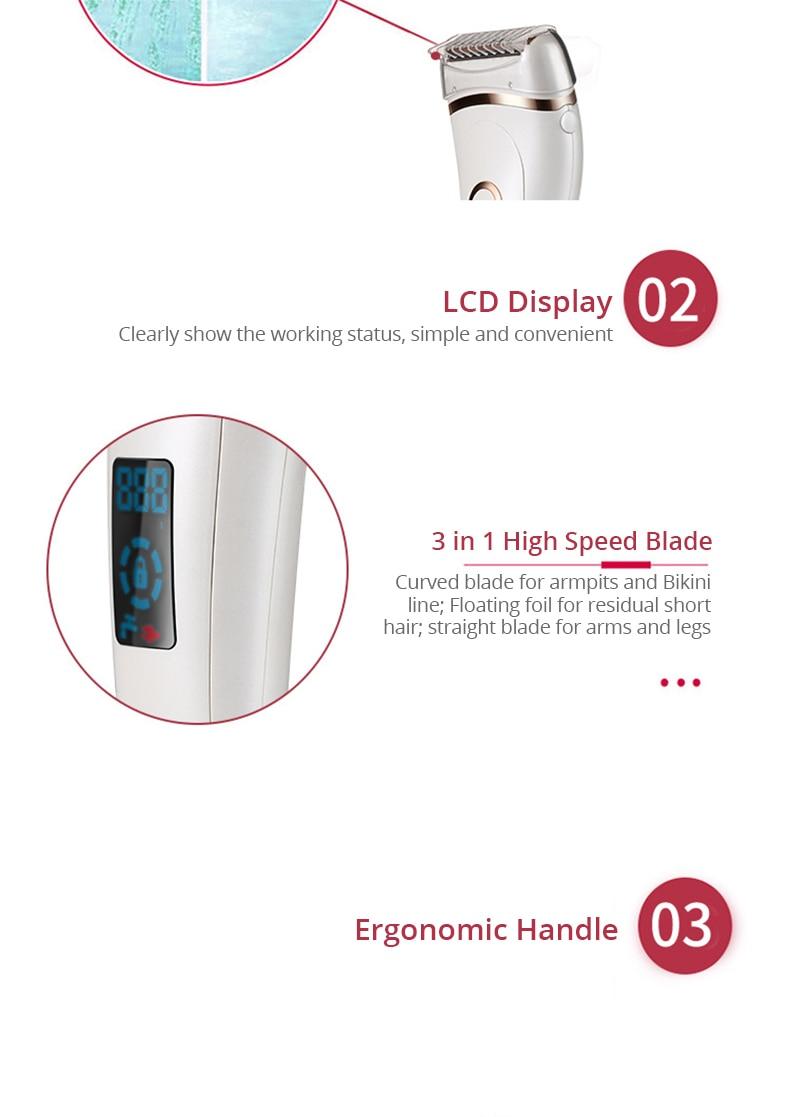 Электрический эпилятор безболезненный женский электробритва Беспроводная эпиляция для ног подмышек бикини влажное и сухое бритье Прямая поставка