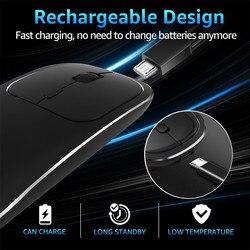 Mysz do gier akumulator Blueteeth bezprzewodowa metalowa bezszumowa cicha mysz optyczna do komputera do komputera Huawei