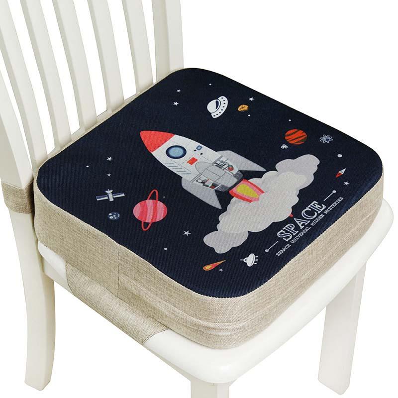 silla suave y c/ómoda del coj/ín del asiento del ni/ño Aumento de los ni/ños Asientos de silla alta ajustables port/átiles Pink Almohadilla del asiento de la trona del beb/é
