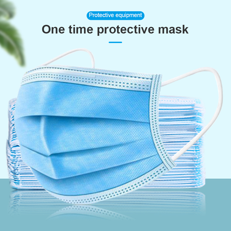 100 Pcs Disposable Mouth Face Mask 3 Layer Filter Masks Anti Dust Droplet Pollution Epidemic Protection Mask PM 2.5 Respirator